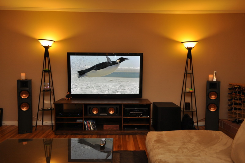 Home theater living room image mag - Living room home theater ...